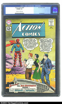 Action Comics #283 (DC, 1961) CGC VF/NM 9.0 Off-white to white pages. Legion of Super-Villains appearance; Curt Swan art...
