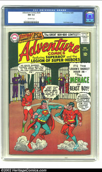 "Adventure Comics #339 (DC, 1965) CGC NM 9.4 Off-white pages. Curt Swan delineated the cover touting ""The Menace of..."