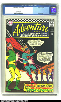 "Adventure Comics #345 (DC,1966).CGC NM 9.4 Off-white pages Curt Swan did a geat cover on this issue heralding ""The..."