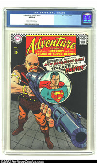 Adventure Comics #358 (DC,1967) CGC NM 9.4 Cream to Off-white pages. This copy is presently tied for first place in bein...