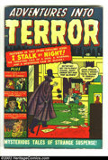 Golden Age (1938-1955):Horror, Adventures Into Terror #3 (Atlas, 1951) FN 6.0 Tan to cream pages.Here is a gloriously colorful cover that was printed with...