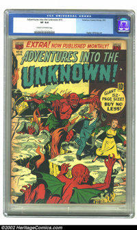 Adventures Into the Unknown #15 (ACG, 1951) CGC VF 8.0 Cream to off-white pages. Ogden Whitney art. Overstreet 2002 VF 8...