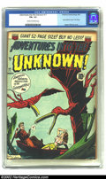 "Golden Age (1938-1955):Horror, Adventures Into the Unknown #17 (ACG, 1951) CGC FN+ 6.5 Cream tooff-white pages. Story similar to movie ""The Thing""; Ogden ..."