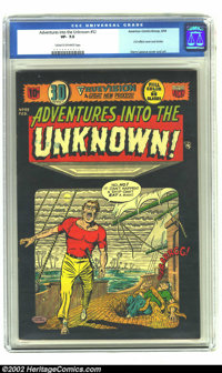 Adventures Into the Unknown #52 (ACG, 1954) CGC VF- 7.5 Cream to off-white pages. 3-D effect cover and stories; Harry La...