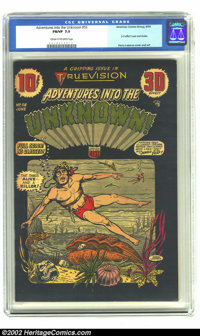 Adventures Into the Unknown #56 (ACG, 1954) CGC FN/VF 7.0 Cream to off-white pages. 3-D effect cover and stories; Harry...