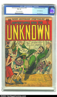 Adventures Into the Unknown #59 (ACG, 1954) CGC FN+ 6.5 Cream to off-white pages. Last 3-D effect story; Harry Lazarus a...