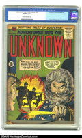 Golden Age (1938-1955):Horror, Adventures Into the Unknown #65 (ACG, 1955) CGC VG/FN 5.0 Cream toOff-white pages. Ogden Whitney provides the cover and int...