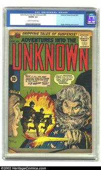 Adventures Into the Unknown #65 (ACG, 1955) CGC VG/FN 5.0 Cream to Off-white pages. Ogden Whitney provides the cover and...