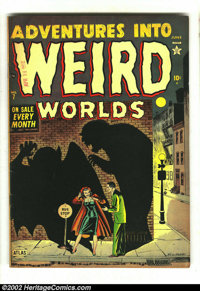 Adventures Into Weird Worlds #7 (Atlas, 1952) Condition: FN- 5.5 . Here is a wonderful Russ Heath horror cover with a to...