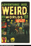 Golden Age (1938-1955):Horror, Adventures Into Weird Worlds #13 (Atlas, 1952) Condition: VG 4.0Tan pages. Incredible pre-code horror as only early Atlas c...