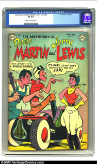 Adventures of Dean Martin and Jerry Lewis #3 (DC, 1952) CGC VF 8.0 Cream to off-white pages. Jerry Lewis and Dean Martin...