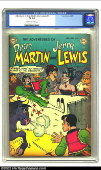 Adventures of Dean Martin and Jerry Lewis #4 (DC, 1953) CGC FN 6.0 Cream to off-white pages. Jerry Lewis becomes a bull...