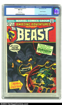 Amazing Adventures #17 (Marvel, 1973) CGC NM 9.4 Off-white pages. The Beast makes his last appearance in this issue and...