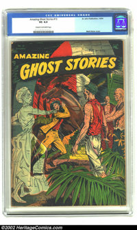 Amazing Ghost Stories #15 (St. John, 1954) CGC VG 4.0 Cream to off-white pages. Matt Baker cover; Powell art. Overstreet...