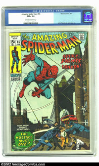 Amazing Spider-Man #95 (Marvel, 1971) CGC NM+ 9.6 Off-white to white pages. John Romita Sr. cover and art. Overstreet 20...