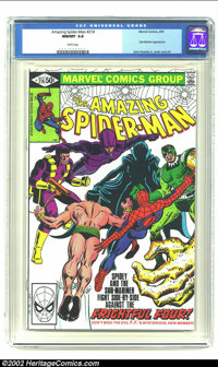 Amazing Spider-Man #214 (Marvel, 1981) CGC NM/MT 9.8 White pages. Sub-Mariner and Sandman appearance. Overstreet 2002 NM...