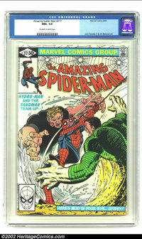 Amazing Spider-Man #217 (Marvel, 1981) CGC NM+ 9.6 Off-white to white pages. Sandman cover/ John Romita Jr. and Jim Moon...