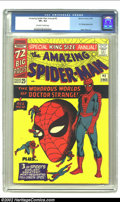 Silver Age (1956-1969):Superhero, The Amazing Spider-Man Annual #2 (Marvel, 1965) CGC VF+ 8.5Off-white to white pages. Here's another Ditko classic cover! Th...
