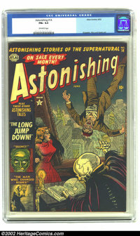Astonishing #14 (Atlas, 1952) CGC FN+ 6.5 Off-white pages. Krigstein, Rico and Ayers art. Overstreet 2002 FN 6.0 value =...
