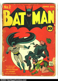 Batman #2 (DC, 1940) Condition: FR. The Joker and Catwoman team up in this classic, early Golden Age comic. It is the se...