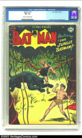 Golden Age (1938-1955):Superhero, Batman #72 (DC, 1952) CGC FN+ 6.5 Cream to off-white pages. Very rare. Only one copy graded higher, and it is only a 7.0. Ov...