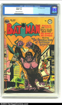 Batman #75 (DC, 1953) CGC FN/VF 7.0 Cream to off-white pages. This issue is from the notoriously difficult to find time...
