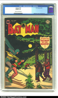 Batman #78 (DC, 1953) Condition: VG/FN 5.0 Cream to off-white pages. Martian Manhunter prototype. Overstreet 2002 FN 6.0...