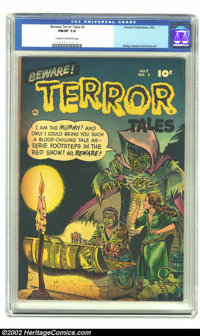 Beware Terror Tales #2 (Fawcett, 1952).CGC FN/VF 7.0 Cream to off-white pages Bailey, Powell and Andru all showcaseartwo...