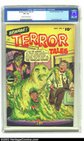 Golden Age (1938-1955):Horror, Beware Terror Tales #4 (Fawcett, 1952) CGC VF+ 8.5 Cream toOff-white pages. Bernard Baily spooks the reader with this cover...