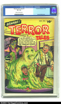 Beware Terror Tales #4 (Fawcett, 1952) CGC VF+ 8.5 Cream to Off-white pages. Bernard Baily spooks the reader with this c...