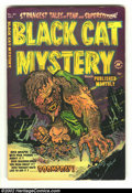 Golden Age (1938-1955):Horror, Black Cat Mystery #40 (Harvey, 1952) VG- 3.5. Just about as wildand gruesome of a cover as you can get with this pre-code h...