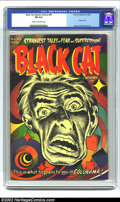Golden Age (1938-1955):Horror, Black Cat Mystery #45 (Harvey, 1953) CGC FN 6.0 Cream to off-whitepages. This is the classic Bob Powell Colorama (psychedel...