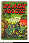 Golden Age (1938-1955):Horror, Black Magic v4 #2 (Prize, 1953) Condition: VG. Great Simon andKirby issue. Here is another great horror comic from this bea...