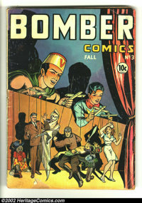 Bomber Comics #3 (Elliot, 1944) Condition: FR/GD. Matt Baker art? Overstreet 2002 GD 2.0 value = $40