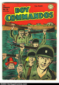 Golden Age (1938-1955):War, Boy Commandos #10 (DC, 1945) Condition: VG/FN. Kirbyesque covermaintains the style of The King in this issue. Overstreet 20...
