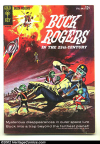 Buck Rogers #1 (Gold Key, 1964) Condition: FN/VF. Beautiful painted cover! Overstreet 2002 FN 6.0 value = $24; VF 8.0 va...