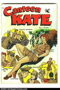 Canteen Kate #1 (St. John, 1952) Condition: GD/VG. With Matt Baker covers and art, how did this title not run more than...