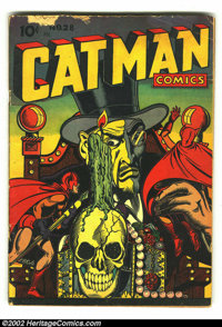 Catman Comics #28 (Holyoke Publications, 1945) Condition: GD. Kitten's secret ID revealed to Catman. L. B. Cole cover an...