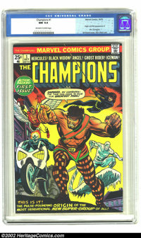 Champions, The #1 (Marvel, 1975) CGC NM 9.4 Off-white to White pages. First appearance and origin of the Champions: Herc...