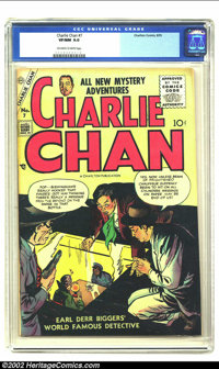 Charlie Chan #7 (Charlton, 1955) CGC VF/NM 9.0 Off-white to white pages. Simon and Kirby do it again. From the collectio...