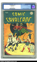 Golden Age (1938-1955):Superhero, Comic Cavalcade #16 (DC, 1946) CGC VF/NM 9.0 Off-white to white pages. E. E. Hibbard and H. G. Peter collaborate on this cir...