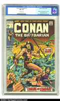 Bronze Age (1970-1979):Miscellaneous, Conan #1 (Marvel, 1970) Condition: FN+ 6.5 Off-white pages. Originand first appearance of Conan. Overstreet 2002 FN 6.0 val...