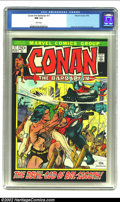 Bronze Age (1970-1979):Miscellaneous, Conan The Barbarian #17 (Marvel, 1972) CGC NM 9.4 White pages. GilKane and Frank Brunner cover. Gil Kane art. Overstreet 20...