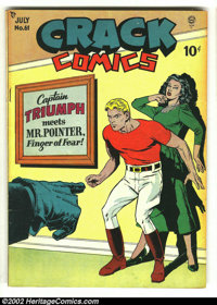 Crack Comics #61 (Quality, 1949) Condition: VG-. 2nd to last issue. Here is another great comic from this beautiful coll...