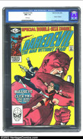 Modern Age (1980-Present):Superhero, Daredevil #181 (Marvel, 1982) CGC NM+ 9.6 White pages. This issuefeatures the death of Elektra. Overstreet 2002 NM 9.4 valu...