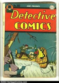 Detective Comics #100 (DC, 1945) Condition: GD/VG. A classic Dick Sprang cover highlights the landmark 100th issue of th...