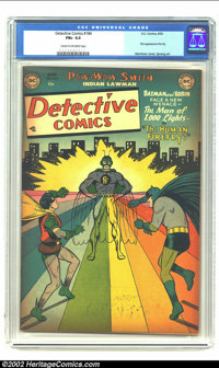 Detective Comics #184 (DC, 1952) CGC FN+ 6.5 Cream to Off-white pages. Win Mortimer provides the cover as Batman and Rob...