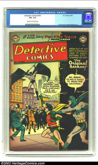"Detective Comics #195 (DC, 1953) CGC VG+ Cream to off-white pages. Dick Sprang does ""The Original Batman!"" in..."
