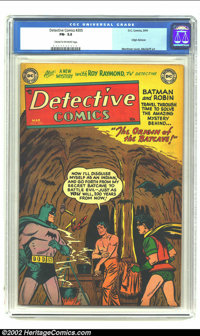 Detective Comics #205 (DC, 1954) CGC FN- 5.5 Cream to Off-white pages. Batman and Robin travel back in time to discover...