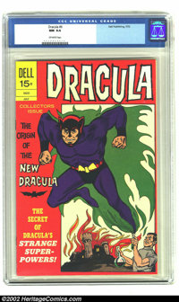 Dracula #6 (Dell, 1972) CGC NM 9.4 Off-white pages. Issue #2 from 1966 is reprinted here with the origin of Dracula. Plu...